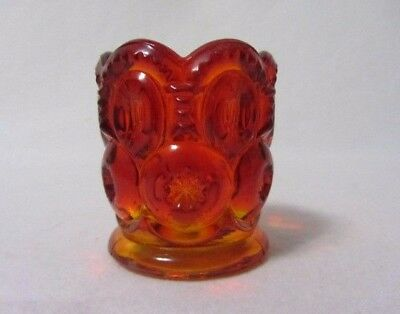 L E Smith Moon & Star Ruby Red Amberina  Scalloped Edge Top Toothpick Glows