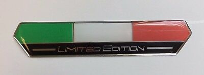 Italy Flag Limited Edition 100mm Sticker/Decal (Black) - HIGH GLOSS DOMED GEL