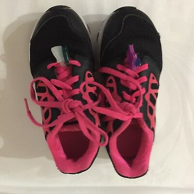 Nike Flex One Black/Pink Running Sneakers Shoes Girls 642758-001 Size 11C