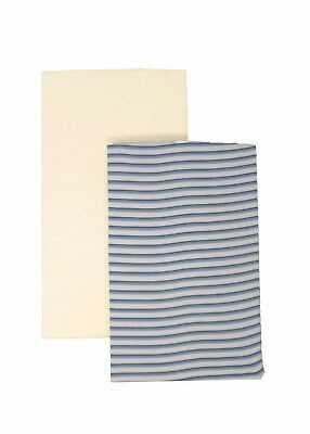 DK GOTS Organic Cotton Fitted Blue Stripe/Cream Next to Me 83x50cm Sheets