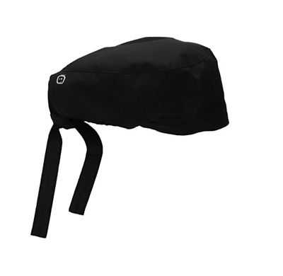 New WonderWink Men's Wonderwork Unisex Scrub Cap Hat Black Surgical One Size