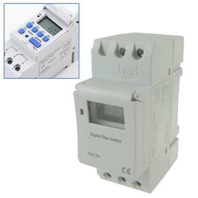 AC 220V Digital LEH Programmable Hebdomadaire Rail Timer Time Relay Switch EH