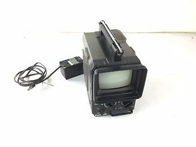 Panasonic Solid State TV Black And White Portable TR555 with Power Supply TR-555