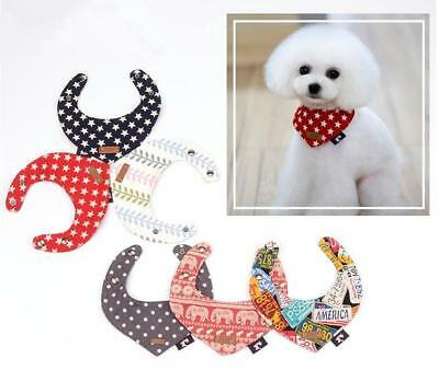 Soft Fleece Bandana-Style Dog Collars Neckerchief for Small Dog Yorkie