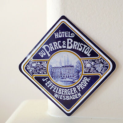 "#2954 Hotel Wiesbaden Hesse Germany Retro vintage luggage label 3"" DECAL STICKER"