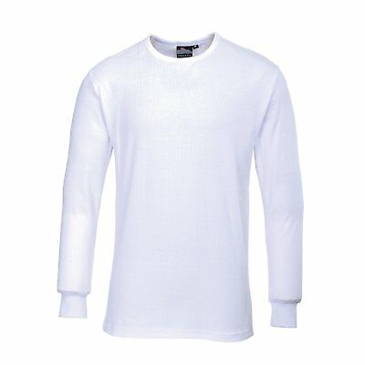 Portwest B123Whrm T-Shirt Termica Manica Lunga Bianco Medium