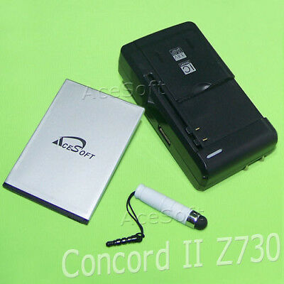 AceSoft 3 Accessory 2010mA Battery Charger Pen For MetroPCS ZTE Concord II Phone