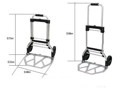 D16 Rugged Aluminium Luggage Trolley Hand Truck Folding Foldable Shopping Cart