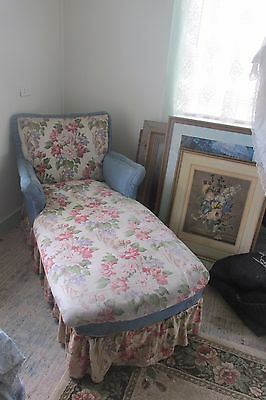 **sale** Floral Chaise Lounge Fainting Couch Sofa Day Bed Orig 1940S Fabric