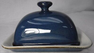 DENBY china BOSTON pattern Rectangular BUTTER DISH with LID