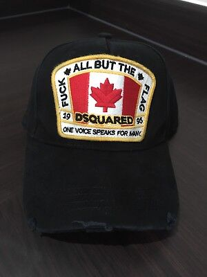 2017 New Dsquared Distressed 'All But The Flag' Baseball Cap Dsquared2 UK Seller