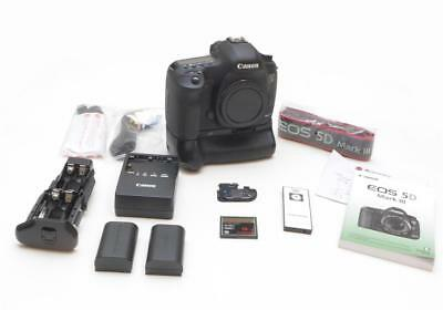 Canon 5D Mark III Mk3 22.3MP Body Only - LOW SHUTTER + Battery Grip + EXTRA