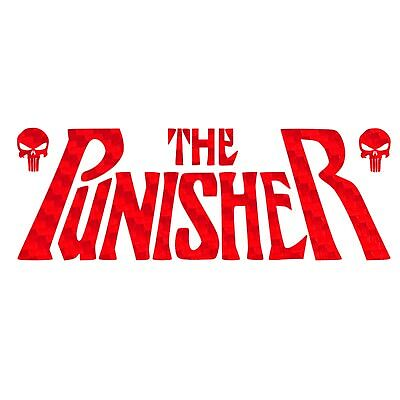 The Punisher Decal Vinyl Text Sticker Select Color Size
