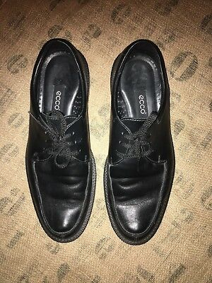 Mens ECCO Black Leather Oxford Shoes Sz 45 / US 11 - 11.5