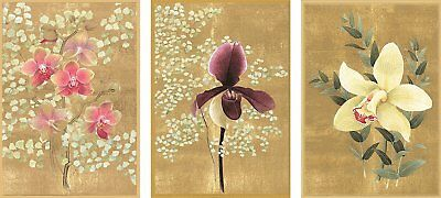 Caspari Orchids Blank Notecards, Pack of 8 (70615.46)