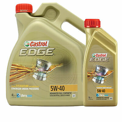 Castrol EDGE TITANIUM 5W-40 FST Synthetic Engine Oil 5W40 - 5 LITRES (4L + 1L)