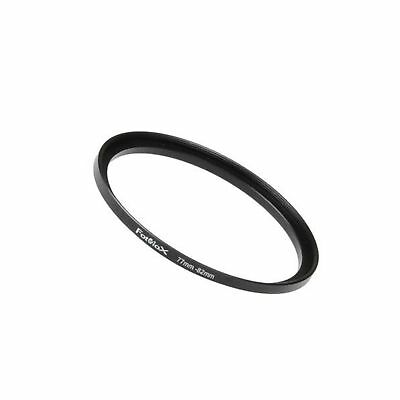Fotodiox Metal Step Up Ring Filter Adapter Anodized Black Aluminum 77mm-82mm ...