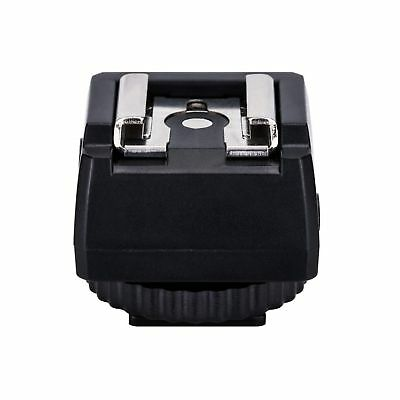 JJC Standard Hot Shoe Adapter with Extra PC sync connection Port & 3.5mm Mini...