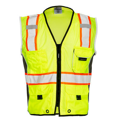 ML Kishigo Class 2 Heavy Duty Reflective Safety Vest, Yellow