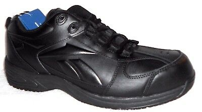 3684cb05c2d3 New Reebok Black RB1100 Jorie Leather Slip Resistant Work Shoes Sneakers