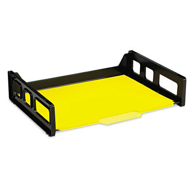 Officemate Recycled Desk Tray Side Load 9 x 13 3/16 x 2 3/4 Letter Black 1/EA