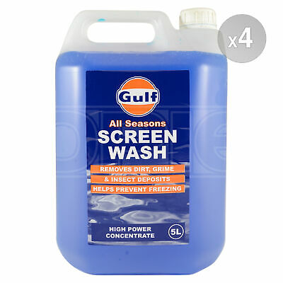 Gulf All Seasons Screen Wash - High Power Concentrate 4 x 5 Litres 20L