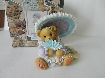Enesco Cherished Teddies '' Vaness'' You're My Shelter From Storm Figurine  NIB