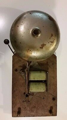 Antique Vintage Faraday Boxing School Fire Alarm Servant Bell