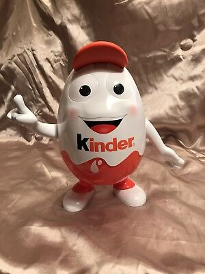 """Kinder Surprise Egg Mascot Doll Empty Figure With Baseball Cap Collectible 9.5"""""""