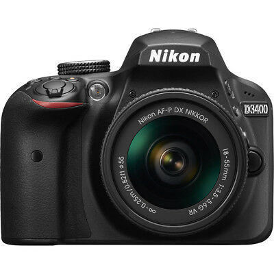 Nikon D3400 Digital SLR Camera with 18-55mm Lens (Black)