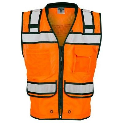 ML Kishigo Class 2 Reflective Surveyor Safety Vest, Orange