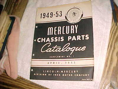 1949-1953 MERCURY CHASSIS PARTS CATALOG - Supplement No 1