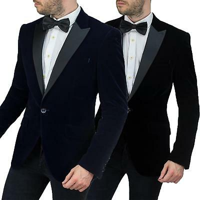 Mens Cavani Vintage Velvet Stylish Formal Wedding Party Tuxedo Blazer Jacket