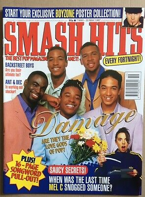 SMASH HITS Magazine Damage Cover/Posh Poster/Sporty, Ant & Dec articles 1997