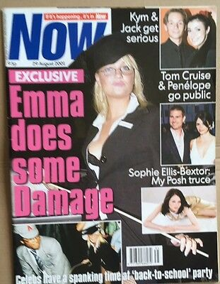 SPICE GIRLS Now Magazine Emma Cover plus Spice Girls inside 29 August 2001