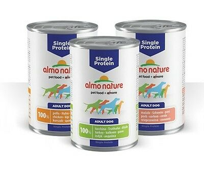 almo nature umido cane 100% maiale 400 gr single protein : 30 pz