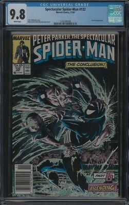 Spectacular Spider-Man #132 Cgc 9.8 Nm/mt Wp Vermin App Mike Zeck Cover