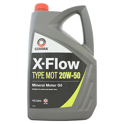 Comma X-Flow Type MOT 20W-50 Mineral Engine Oil - 4.5 Litres