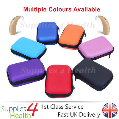 Large Hearing Aid Case Rectangle Storage Hard Carry Case Holder Heavy Duty Best