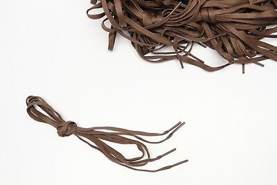 """Brown Shoelaces One Pair 40"""" Casual Dress Boot 1/4"""" Flat Woven New Shoe Laces"""