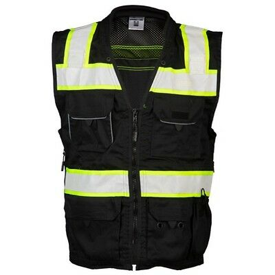 ML Kishigo Reflective Utility Safety Vest, Black