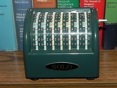 MADE IN JAPAN VINTAGE MINIATURE SOLO ADDING MACHINE c1950-1960's