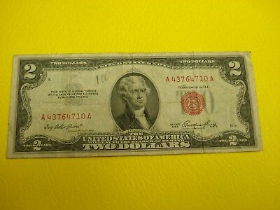 1953 - USA $2 bill - two dollar note - circulated - A 43764710 A
