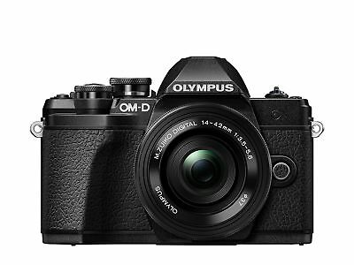 Olympus OM-D E-M10 Mark III Compact System Camera with 14-42 EZ Zoom Lens - B...