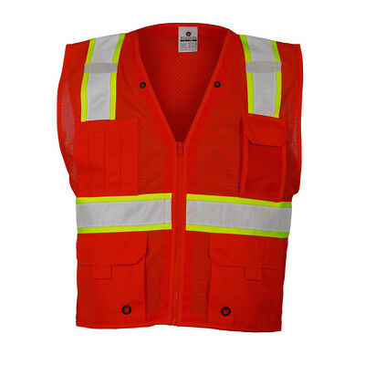 ML Kishigo Reflective Mesh Safety Vest, Red