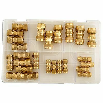 Connect Pipe Connectors - Assorted Brass - Metric - Box Qty 25 (31879)