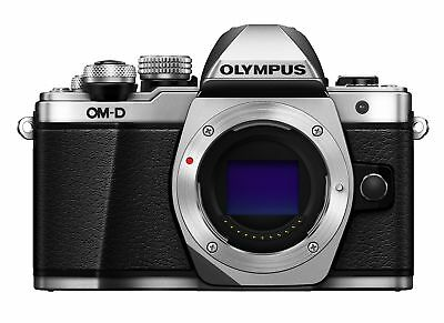Olympus OM-D E-M10 Mark II Compact System Camera Body in Silver Body only