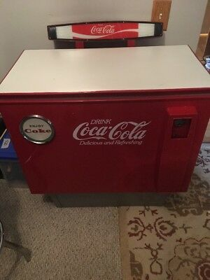 Vintage Cornelius Coca Cola With Machine Illuminated Sign