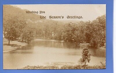Old Vintage Rp Postcard Christmas Xmas Noel Yuletide National Park Greetings