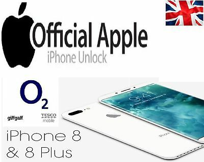 Factory Unlocking Service for iPhone 8 & 8 PLUS O2-UK Tesco & Giffgaff